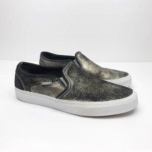 Vans | Metallic Low Top Slip On Shoes Size 9